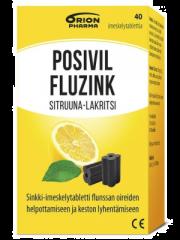 POSIVIL FLUZINK SITRUUNA-LAKRITSI 40 imeskelytabl