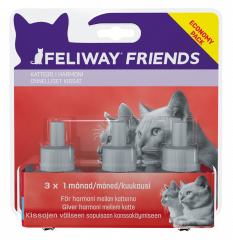 Feliway Friends liuos vaihtopullo 3x48 ml